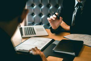 Executive Discussing Trust & Estate Planning